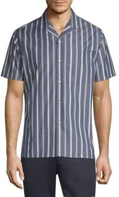 J. Lindeberg David Notch Collar Stripe Button-Down