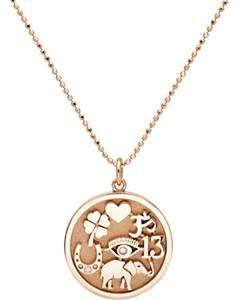 Jennifer Meyer Women's Good Luck Charm Pendant Necklace-Rose Gold