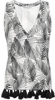 Tart Collections Tasseled Stretch-modal Jersey Top