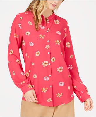 Marella Poltava Floral-Print Button-Up Top