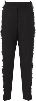 Derek Lam Wool Side Fringe Tapered Pants