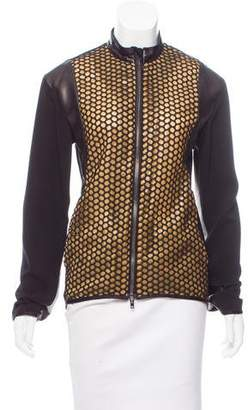 Reed Krakoff Embroidered Leather-Trimmed Jacket