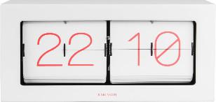 Karlsson White XL Steel Flip Clock Boxed