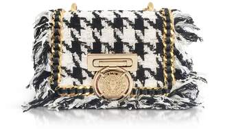 Balmain Tweed And Leather Baby Box Flap Bag