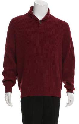 Brunello Cucinelli Cashmere Shawl Collar Sweater