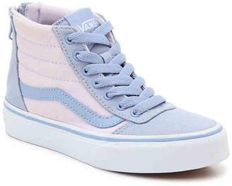 Vans Ward Hi Zip Toddler & Youth High-Top Sneaker - Girl's