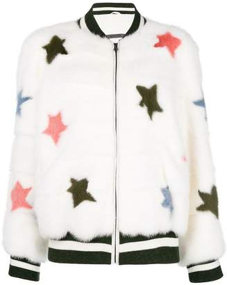 Simonetta Ravizza star detail fur jacket