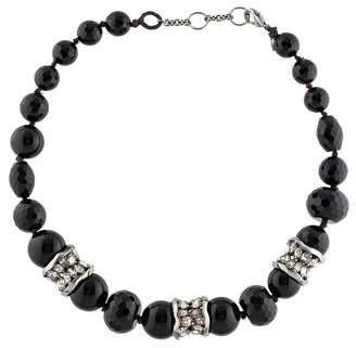 Alexis Bittar Onyx Bead & Crystal Strand Necklace