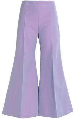 Acne Studios Cropped Cotton-Twill Flared Pants