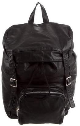 Saint Laurent Canvas & Leather Backpack