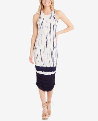 Jessica Simpson Juniors' Jesla Printed Ruched Tie-Back Midi Dress