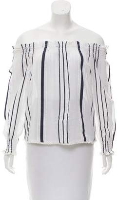 Tryb 212 Striped Off-The-Shoulder Blouse