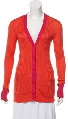 Marc by Marc Jacobs Silk Long Sleeve Cardigan