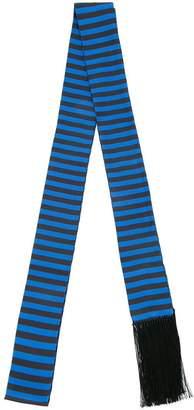 Haider Ackermann striped skinny scarf