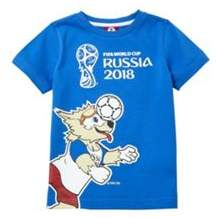 Character Fifa Russia 2018 Football T-Shirt 4-5 years