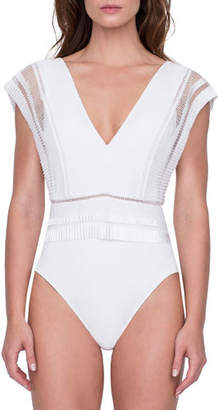 Gottex Aura Deep V One-Piece Swimsuit