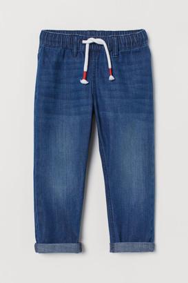 H&M Denim Joggers - Blue