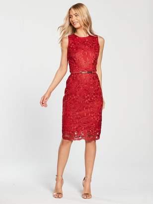 Phase Eight Alina Embroidered Dress - Carmine