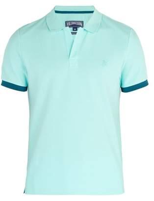 Vilebrequin Palatin Cotton Pique Polo Shirt - Mens - Light Blue