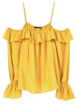 MANGO Flowy off-shoulder blouse