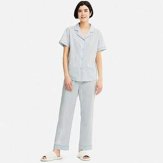 Uniqlo Women's Cotton Stretch Short-sleeve Pajamas