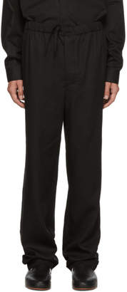 Lemaire Black Buttoned Trousers