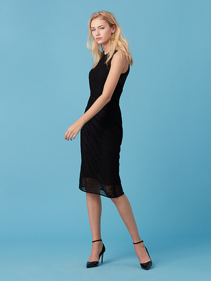 Tailored Lace Midi Dress $368 thestylecure.com
