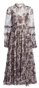Zimmermann Juno Aged Batik Silk Dress