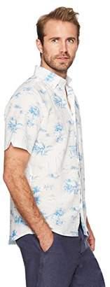 Isle Bay Linens Men's Standard Fit Short Sleeve Linen Cotton Casual Shirt