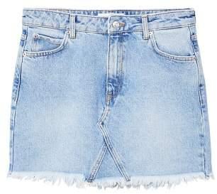 MANGO Frayed edges denim skirt