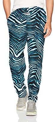 Zubaz Men's Classic Zebra Printed Athletic Lounge Pants