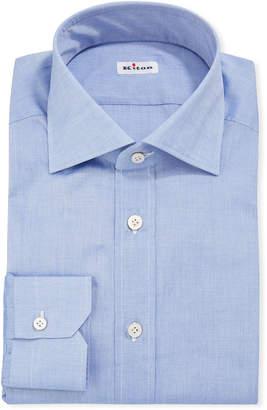 Kiton Men's Chambray Dress Shirt