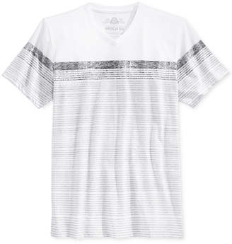 American Rag Men's Stripe V-Neck T-Shirt