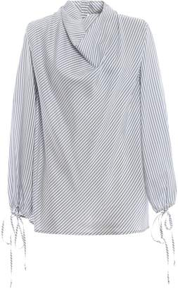 Loewe Cowl Neck Striped Blouse