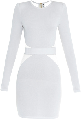 BALMAIN Tulle-insert mini dress $2,375 thestylecure.com
