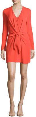 3.1 Phillip Lim Long-Sleeve Knotted Sheath Dress, Poppy