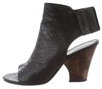 Zero Maria Cornejo Embossed Leather Booties