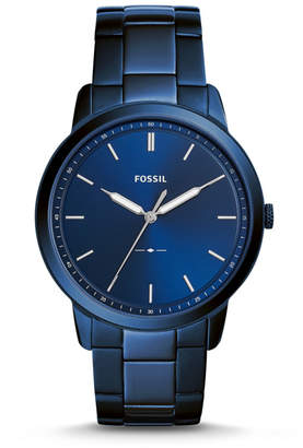Fossil The Minimalist Three-Hand Ocean Blue Stainless Steel Watch