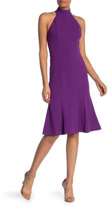 Donna Morgan Mock Neck Sleeveless Fit & Flare Midi Dress