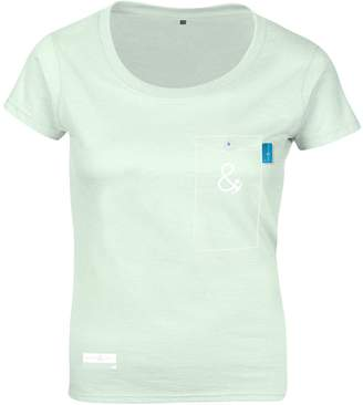 ANCHOR & CREW - Honeydew Green Anchormark Print Organic Cotton T-Shirt (Womens)