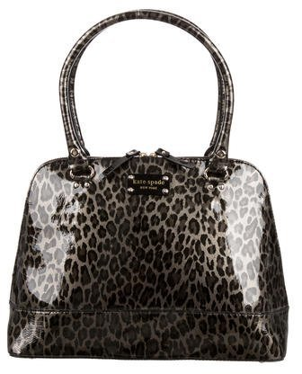 Kate Spade Kate Spade New York Leopard Print Patent Leather Tote