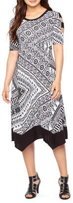 Rabbit Rabbit Rabbit DESIGN Design Short Sleeve Fit & Flare Dress