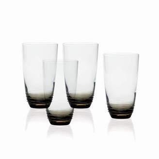 Mikasa Smoke Set of 4 Highball Glasses