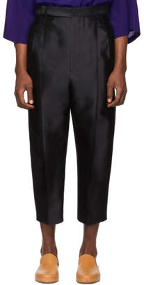 Haider Ackermann Black Silk Classic Laurel Trousers