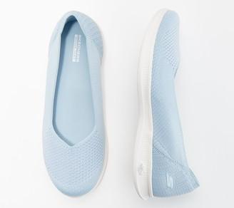 Skechers GO STEP Lite Knit Ballet Slip-On Shoes - Blue Star