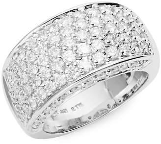 Saks Fifth Avenue Women's 14K White Gold Diamond-Encrusted Ring