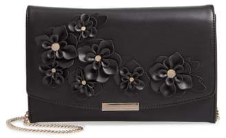 Ted Baker Floral Applique Faux Leather Clutch