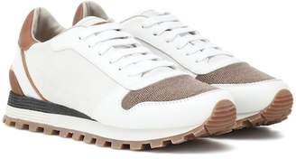 Brunello Cucinelli Colorblocked leather sneakers