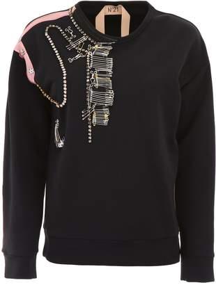 N°21 N.21 Sweatshirt With Pins