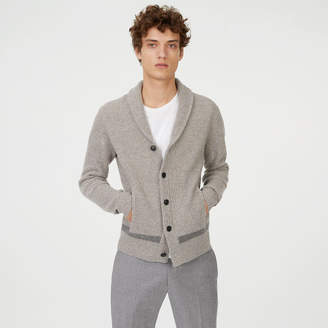 Club Monaco Merino Racked Shawl Cardigan